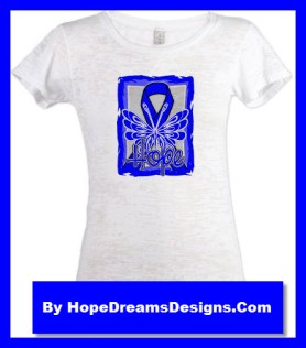Hope Colon Cancer Awareness Ribbon Shirts