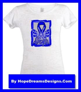 Hope Colon Cancer Awareness Ribbon Shirts